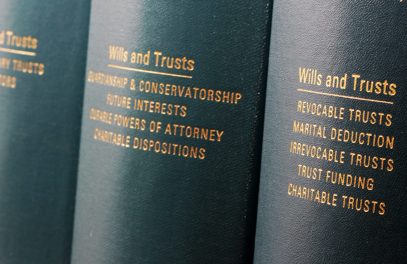 Photo: Wills and Trusts volumes