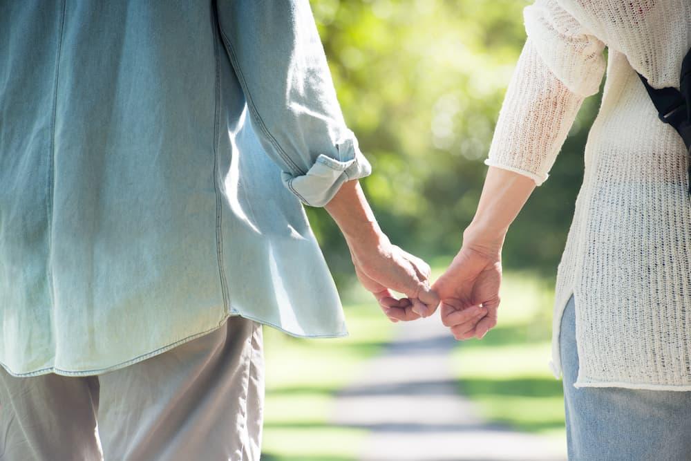Holding hands via pinky
